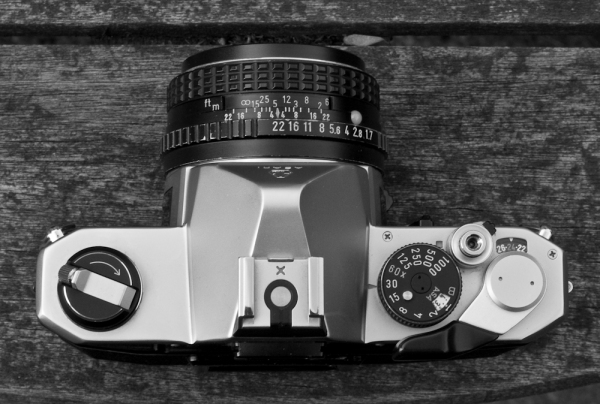 Top view of the Pentax MX