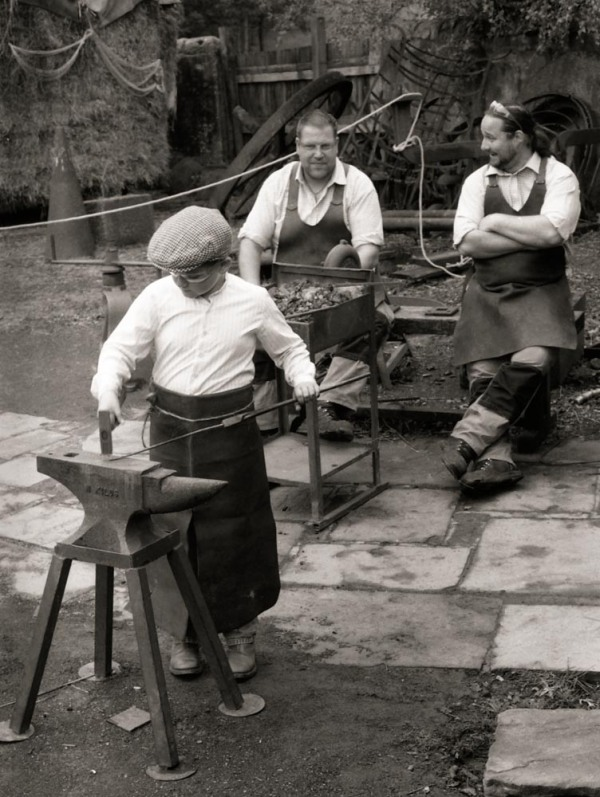 The trainee blacksmith Pentax MX with 35mm lens