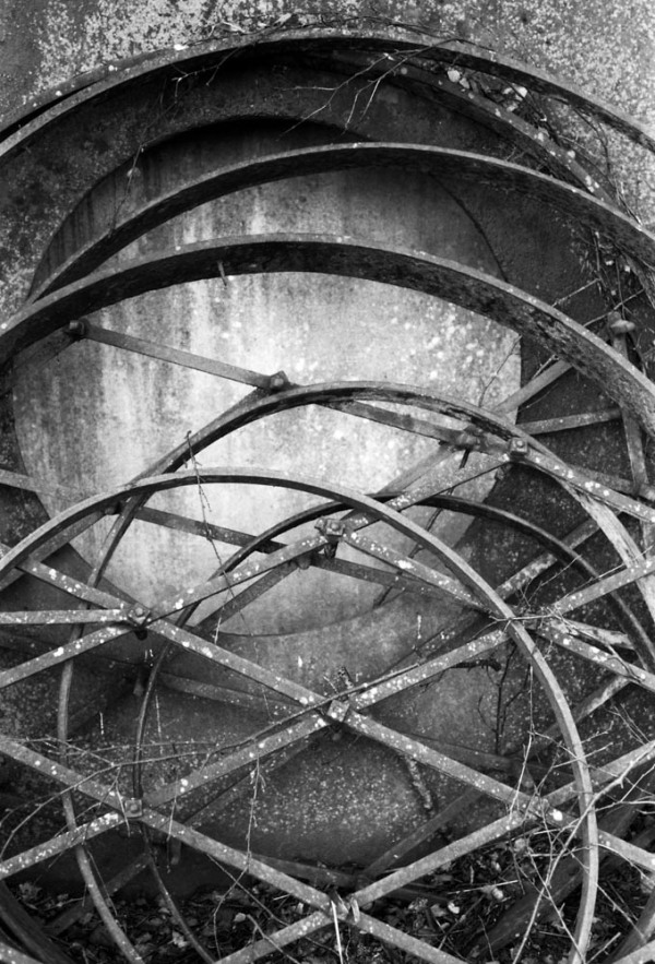 Ironwork shapes.  Pentax MX and 50mm lens