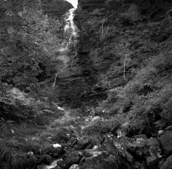 An un-named waterfall about a mile from Boreraig