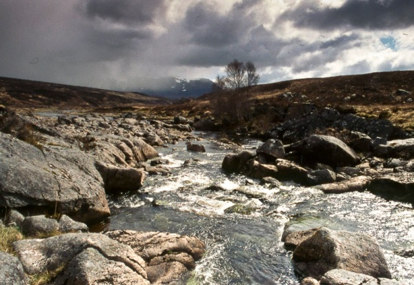 At Black Bridge on the River Glascarnoch.