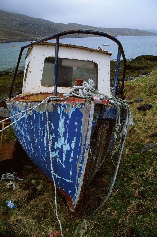 Abandoned boat on Vatersay