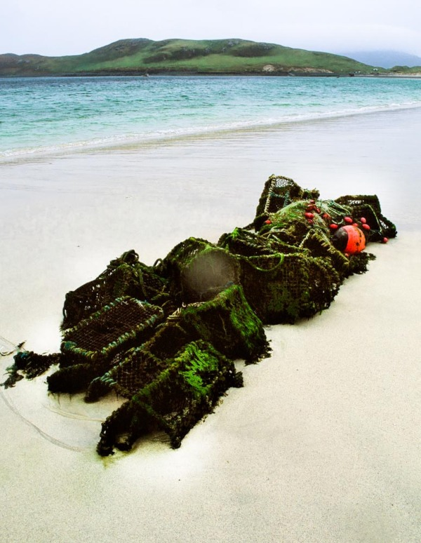 Beach debris on Vatersay