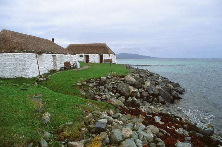The hostel is just yards from the sea; in the background is my next destination, the Isle of Harris