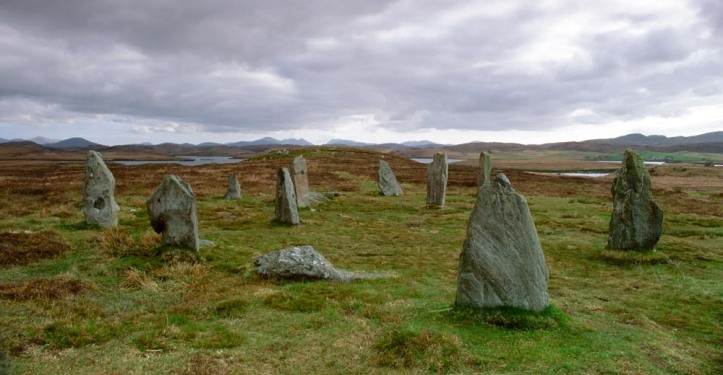There are actually three sets of standing stones at Calanish; this small set is known as C2